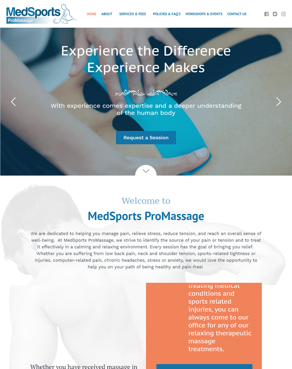 Massage Therapy Website Design | Massage Therapy Website ...